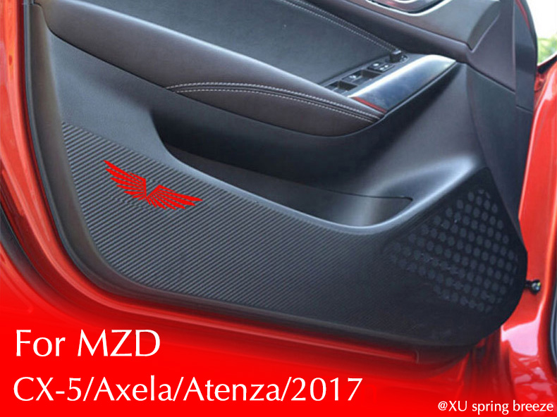 For Mazda CX-5 KF 2017 / 3 Axela 2017 / 6 Atenza 2017 / Car Door Anti-kick Mat Pad Kick Sticker Protection Cover Car Stickers new arrival car auto care seat back protector case cover for children baby kick mat mud clean plastic transparent anti kick pad