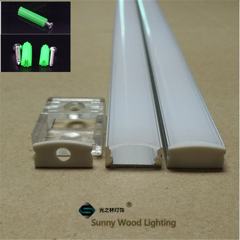 10set / lot 40inch 12 մմ շերտի լուսավորությամբ ալյումինե պրոֆիլ, LED լուսային լուսավորության համար, լուսավորված հարթ բարակ ալյումինե ալիք, ժապավենի լույսի ծածկ