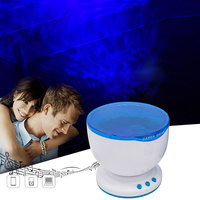 DBF Ocean Wave Projector Lamp Romantic LED Night Light Projector With Built In Mini Music Player
