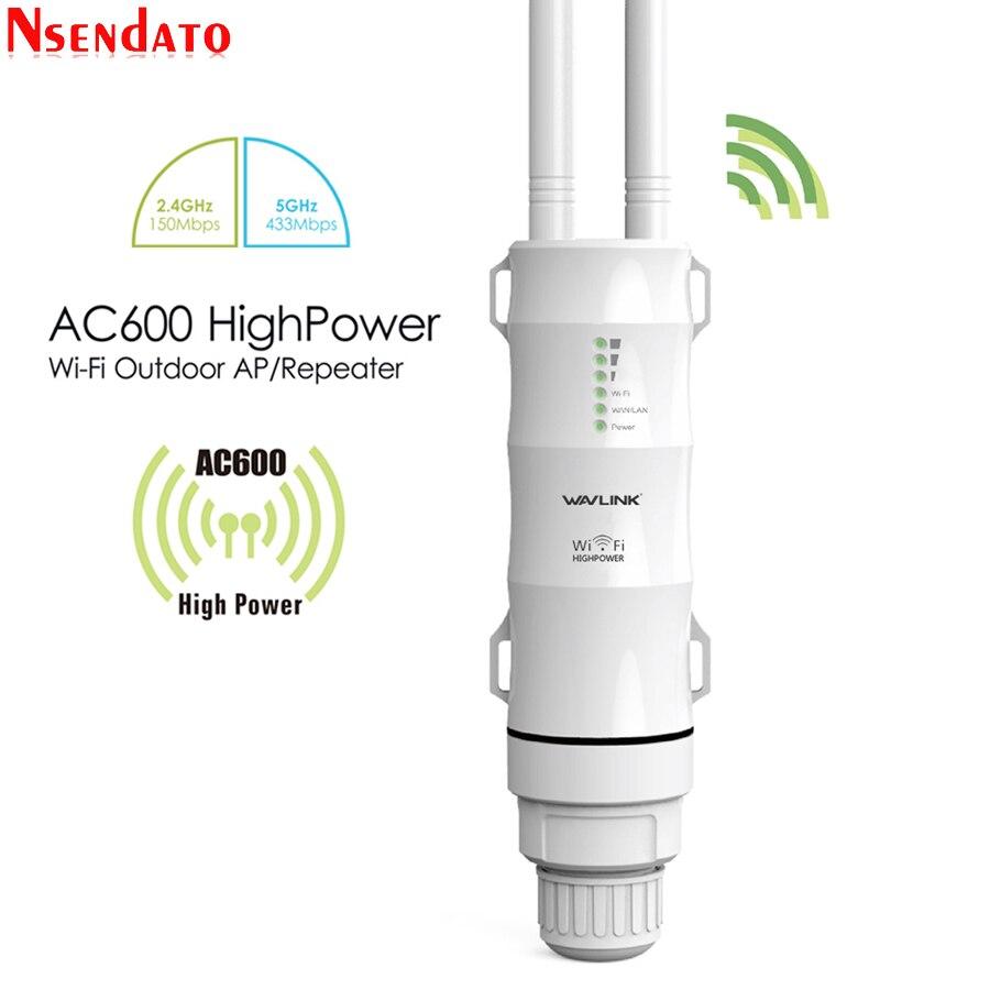 2,4G/5G Dual Band открытый маршрутизатор Wi-Fi усилитель AC600 высокое Мощность Беспроводной AP повторитель Водонепроницаемый расширитель Wi-Fi с AP WISP