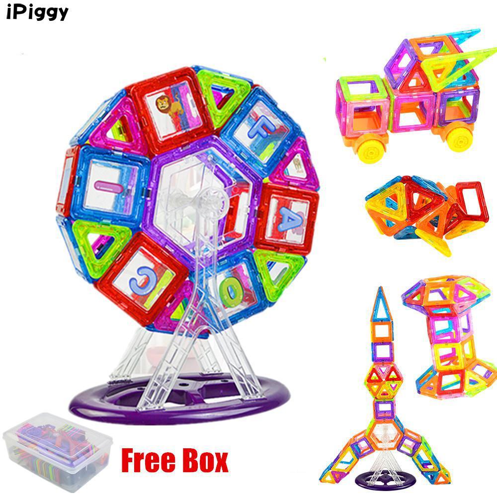 3d Bouw Designer Magnetische Blokken Bouwstenen 58 Stks Mini Reuzenrad Kits Set Kinderen Diy Educatief Kids Toys