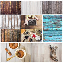 Wood Photo Background Photophone Pinewood Photography Backdrops Studio Shoots for Baby Newborn Cake Customized Size(China)