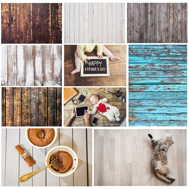 Wood Photo Background Photophone Pinewood Photography Backdrops Studio Shoots for Baby Newborn Cake Customized Size
