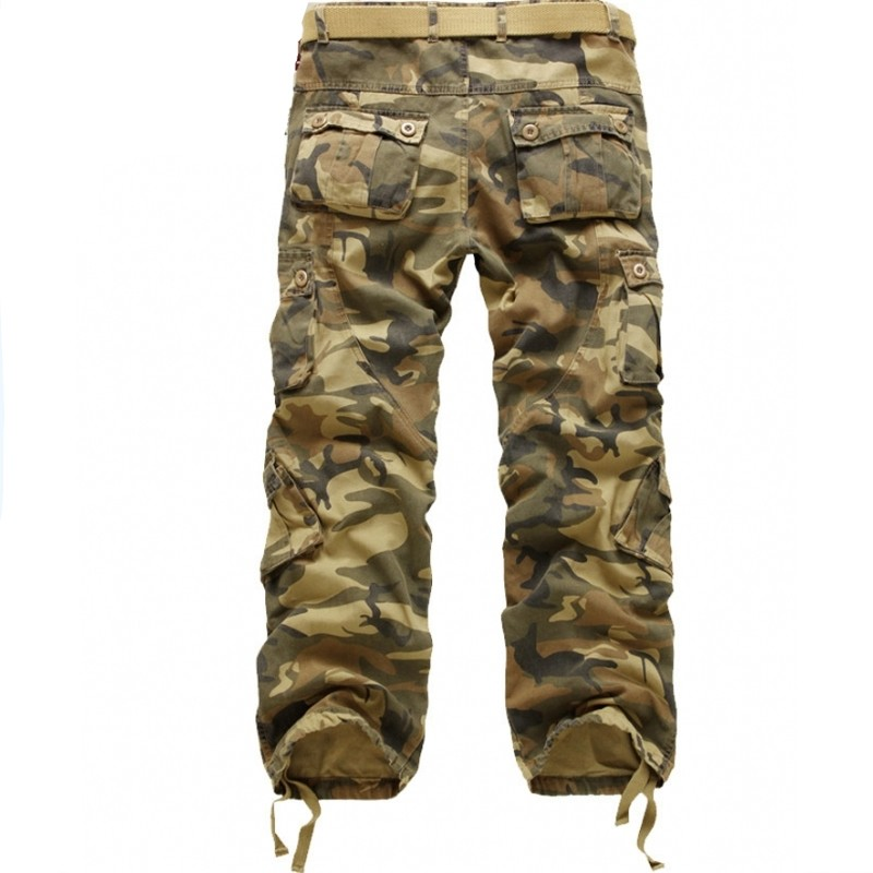 2019 Fashion Men Military Tactical Cargo Püksid Casual Loose Baggy - Meeste riided - Foto 2
