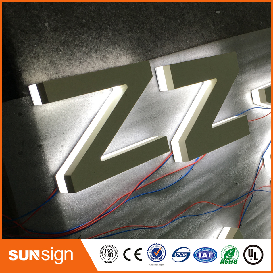 3D Outdoor Backlit Advertising Led Letter Backlit Shop Signs