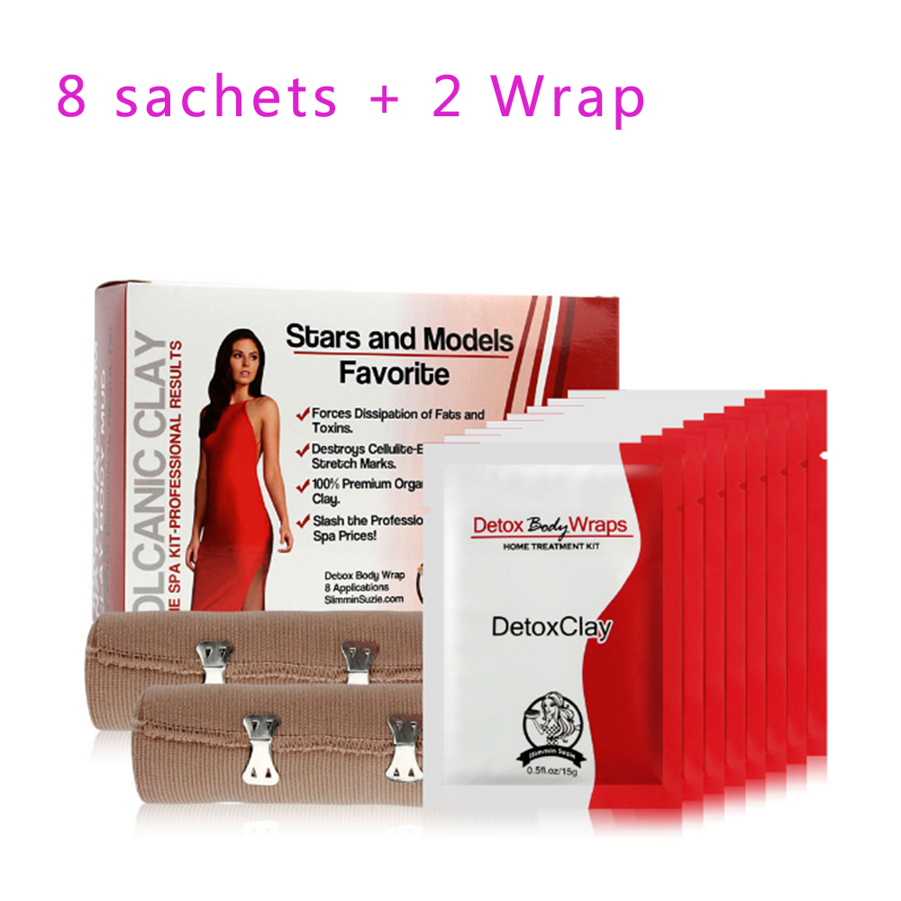 8pcs Effective Slimming Detox Body Wraps And 2pcs Bandage Corset Anti Cellulite Burning Fat Weight Loss Products
