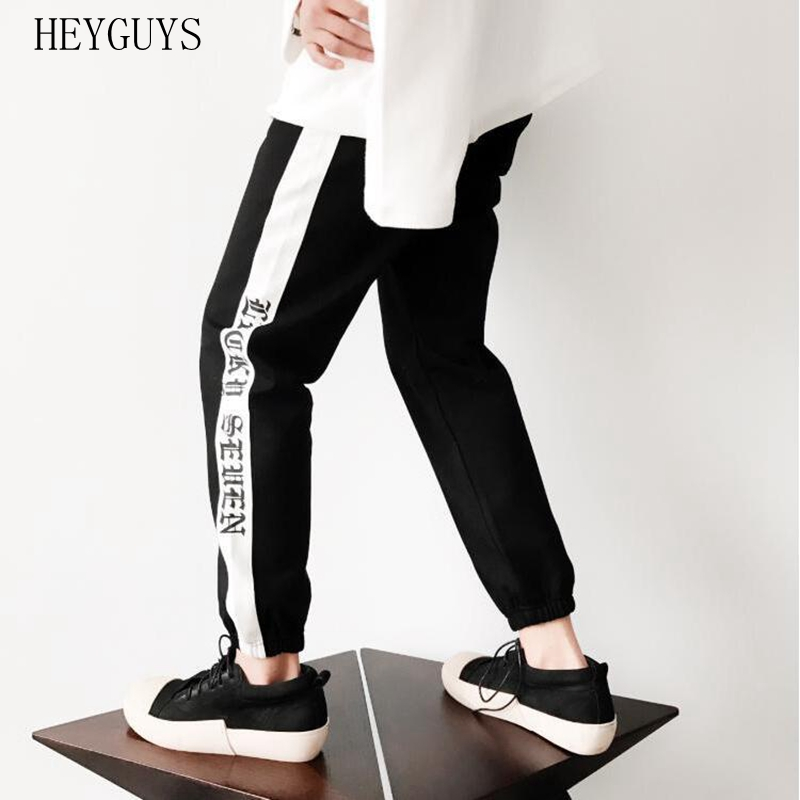 Sports-Pants 17ss Stitching Black Striped Winter Casual Beam White And Autumn Tide National