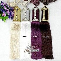 New 80 cm long large crystal beaded tassel curtain 8 colors tieback hold backs with 2.jpg 250x250