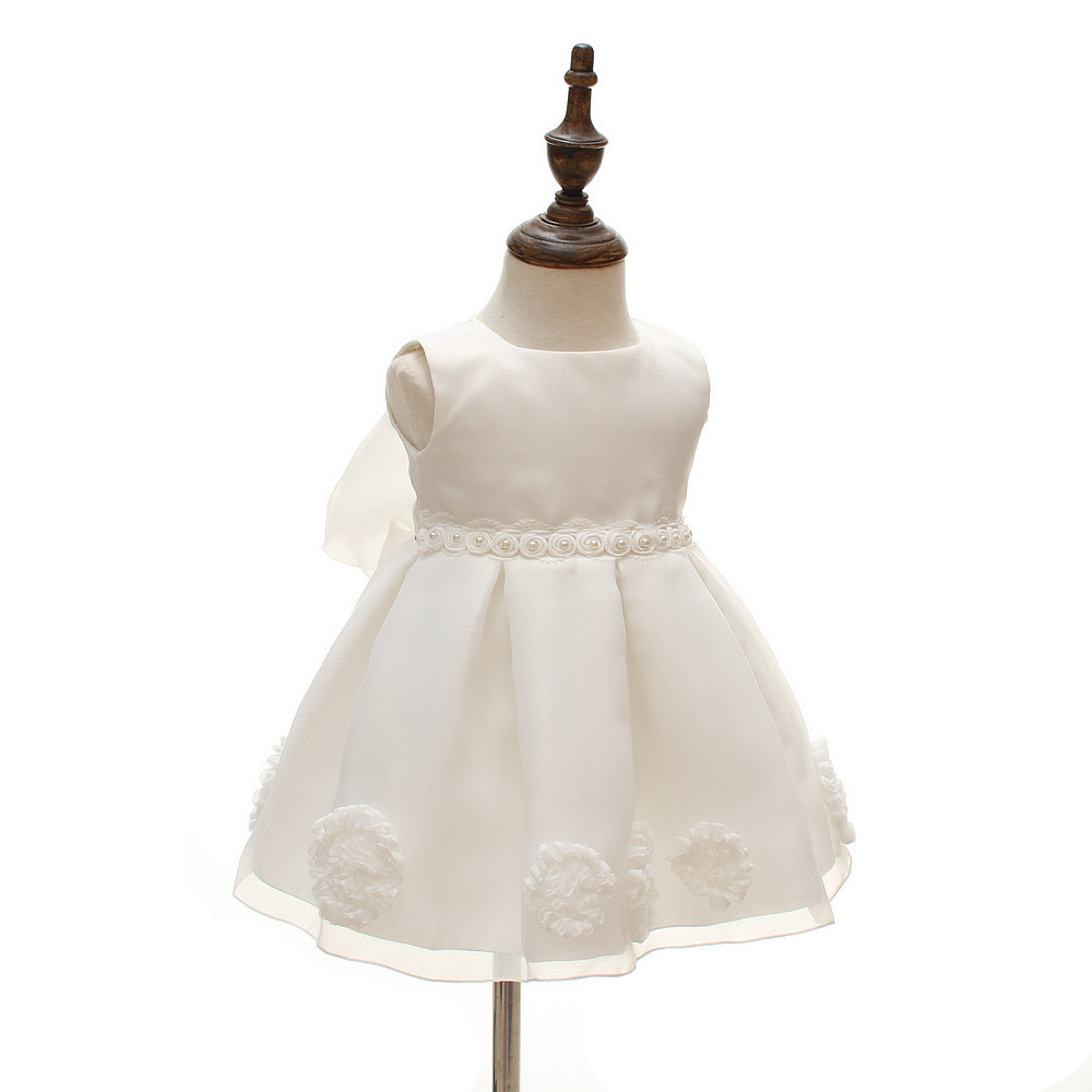 2018 Newborn Baptism Clothes Cute Fashion Baby Christening Gown Kids Flower Girls Birthday Princess Infant Party Dresses Costume baby dress sequin lace flower christening gown baptism clothes newborn kids girls birthday princess infant party costume