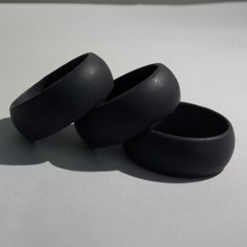 8mm black hypoallergenic crossfit silicone wedding bands