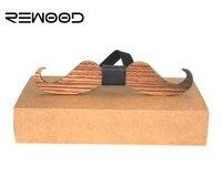 Rewood Diseño Original Americana Nueva Diversión Personalidad Ocio de Los Hombres Pajaritas Mariposas Bowtie Wedding Party Barba Forma De Madera
