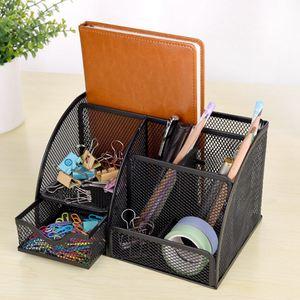 Image 5 - 1 шт. офисная канцелярская многофункциональная канцелярская ручка держатель Сетка Коробка для хранения