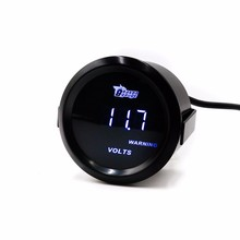 Universal Car Voltmeter Gauge 2″ 52mm Digital Led Volt Gauge/Tachometer/Auto   Gauge/Car Meter/White LED/Black Face Volt Meter