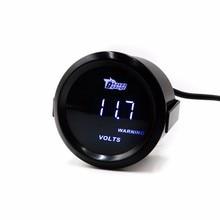 """Universal Auto Anzeigengerät 2 """"52mm Digital Led Volt Spur/Tachometer/Auto Gauge/Auto Meter/weiß LED/Schwarz Gesicht Volt Meter"""