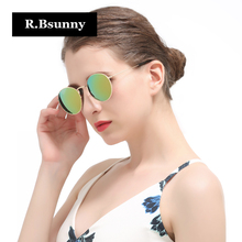 R.Bsunny Fashion brand women sunglasses Classic retro circular polarized sunglasses Polaroid lenses UV400 Leisure Driving R1625