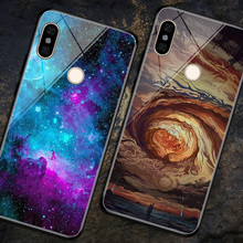 For Xiaomi Redmi Note 6 Pro Case Tempered Glass Starry Sky Cover Back for Note6