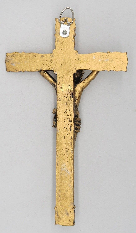 Catholic 8.5 Inch Resin Jesus Christ on INRI Cross Wall Crucifix ...