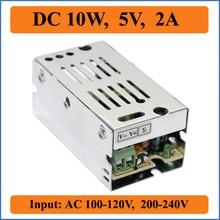 Fonte de Alimentação Output para LED V de Tensão 10 W 5 V 2A Comutação DA Pequeno Volume Single Strip LUZ Exibição DC AC 100-240 Transformador