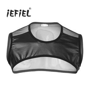 5317b250c iEFiEL Mens Sleeveless Mesh Muscle Tank Top Vest Crop Tops
