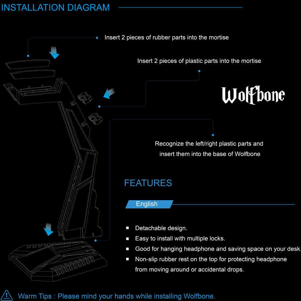hight resolution of  sades wolfbone creative headphone stand headset earphone plastic modular holder fashion display bracket for headphones