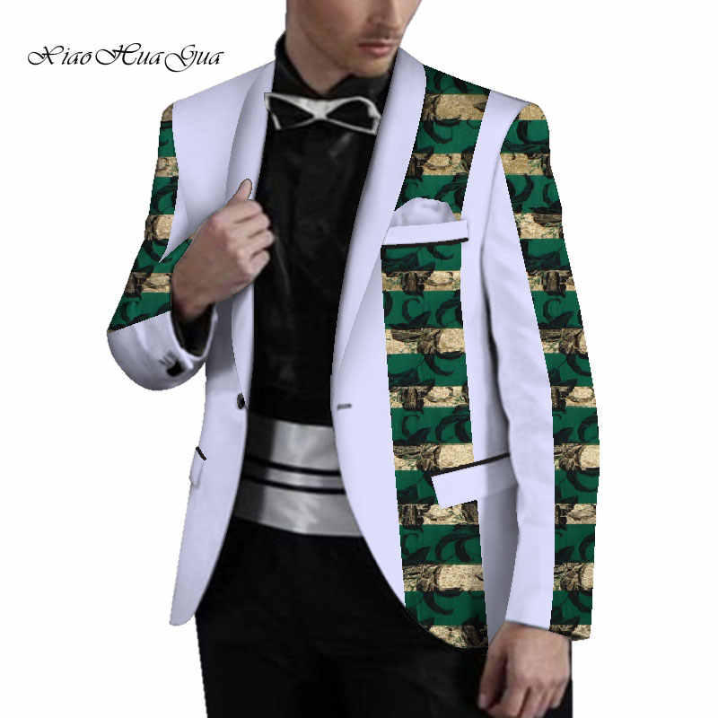 Men Wedding Blazer Fancy African Dashiki Men Clothes Wedding Party Dress Suit Ankara Blazer Jacket Tops Coat Casual WYN721