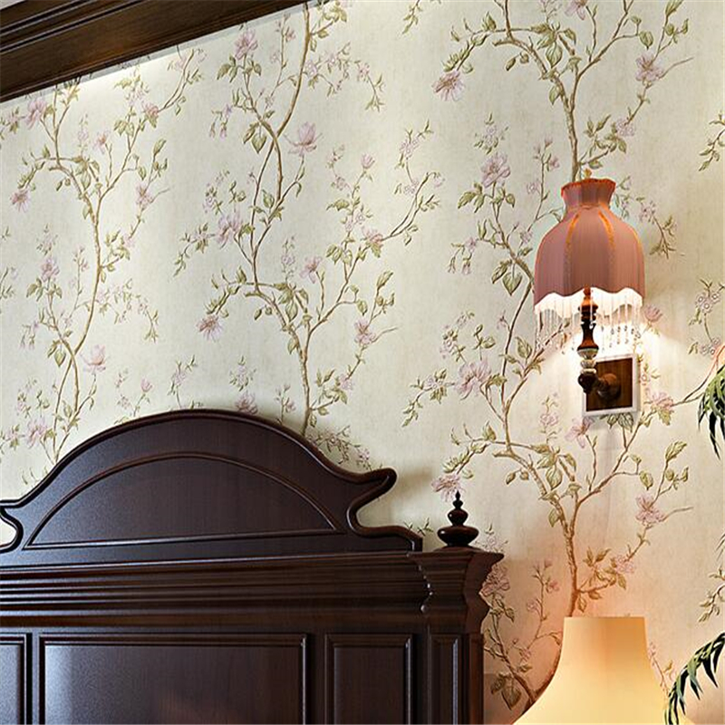 beibehang American rural pastoral flowers 3d three dimensional non woven wallpaper bedroom bedroom full of living room backdrop 1 kenolux shine cid lines 981794