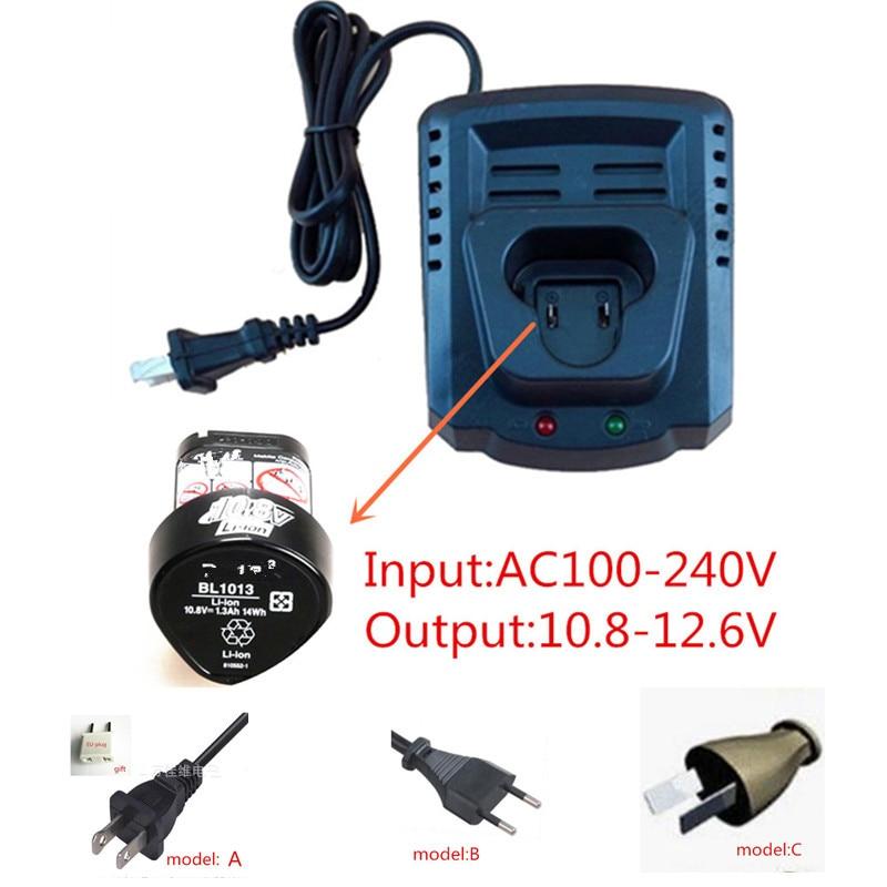 AC110-240V Charger Replace for Makita BL1013 BL1014 10.8V 12V Li-ion Battery Charger DC10WA DC10WB DF030D DF330D DF030DWE TD090D 110 240v al1411dv replace ni cd battery charger for bosch charger gdr12v gsb12v gsb14 4v gsr 7 2v gsr9 6v gsr12v gsr14 4v gsr18v