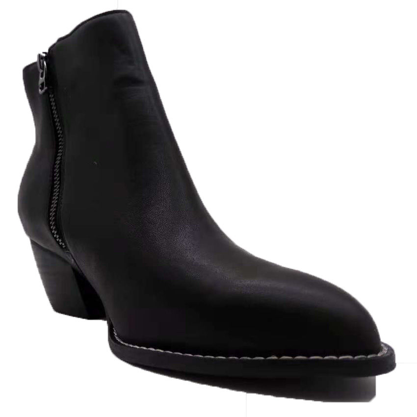 boots for women pointed toe med heels zipper hot sale shoes boots s women genuine leatherr boots shoes ankles boots for women