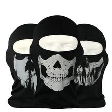 Новая горячая Распродажа призрак в виде черепа на лицо для мотоциклистов Тактическая Военная игра CS для страйкбола, тренировок ветрозащитный Обувь с дышащей сеткой ткань Балаклава маска для лица