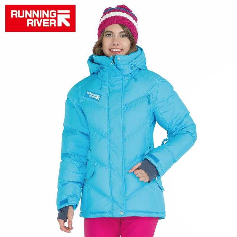 FIUME che scorre Marca Donne di Inverno Piumino 5 Colori 6 dimensioni Escursionismo e Piumini Caldi Sport All'aria Aperta Abbigliamento # D5142