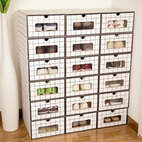 2019 New Fashion Shoe Box High Quality Home Organizers Shoe Storage Box Drawer Type Male Female Shoes Organizers Shoe Cabinet