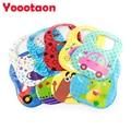 EVA+Sponge Cartoon baby bibs with pocket Baberos waterproof clothing babador Bandana bibs Baberos bebes