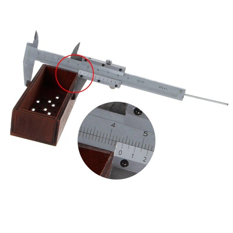 0-100mm 4 Inch Messschieber 100mm Tasche Mini Sattel Micometer Dicke Messen Werkzeug Einfach Zu Verwenden