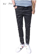 2017 new men's black jeans male Korean version of the thin Japanese wild simple fashion fresh and self-cultivation youth elastic