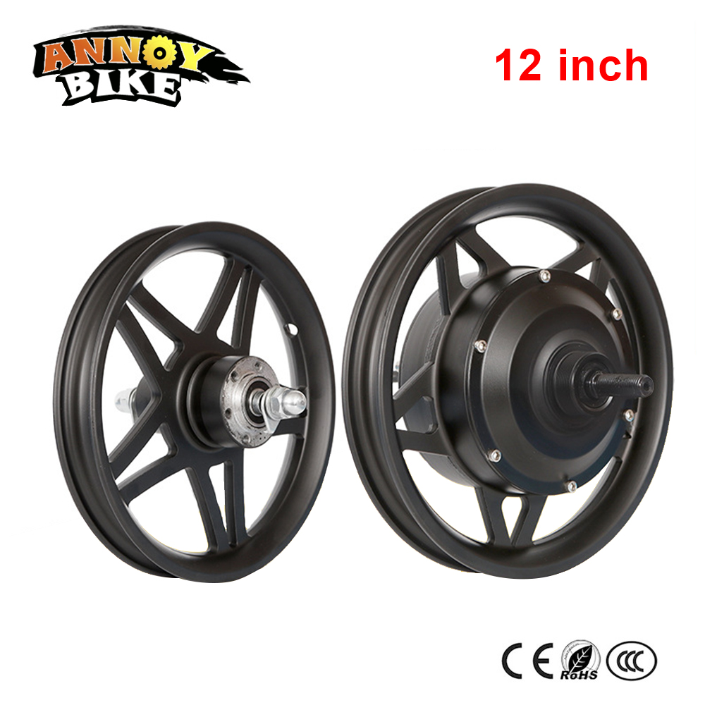 12'' 14'' 16'' Front Wheel And Rear Drive Wheel Kit High Speed Motor 48V250W Brushless Gear Hub Motor Lithium Electric Bicycle front rear gear box complete set drive