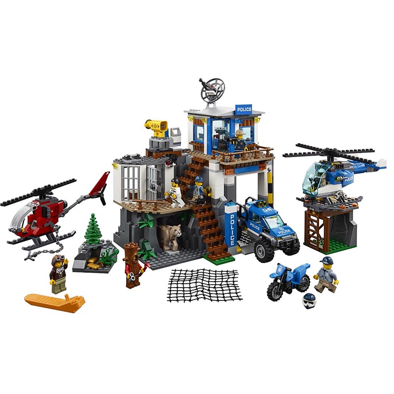 City Toys Series 02097 Compatible With 60174 Mountain Police Headquater Set Building Blocks Bricks Toys Model