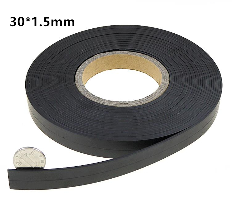 10meters a roll 30*1.5mm Flexible Soft Magnetic Rubber Magnet Strip Tape for Home doors and windows  Office equipment10meters a roll 30*1.5mm Flexible Soft Magnetic Rubber Magnet Strip Tape for Home doors and windows  Office equipment