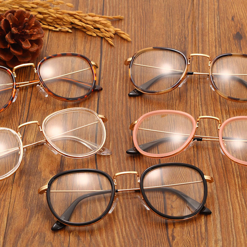 19ce60d25cc Vintage Clear Lens Eyeglasses Frame Retro Round Men Women Eyewear Nerd  Glasses Black Leopard Pink Tea Transparent-in Eyewear Frames from Apparel  Accessories ...