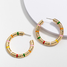 Vintage Earrings for Women Round C Geometric Statement Earring 2019 Metal Hanging Fashion Female Jewelry