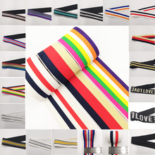 40mm Nylon Colorful Elastic Band Webbing Waistband Stretchy Tape Clothing Accessories 1M Rubber 4CM DIY Sewing