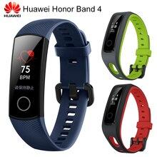 Оригинальный huawei Honor Band 4 умный Браслет 0,95 «OLED сенсорный экран водостойкий фитнес-трекер Браслет сердечного ритма сна монитор