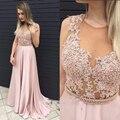 Elegante Dirsty Pink Vestidos de Noche Largo Para El Banquete de Boda de Raso de Noche Formal Vestidos Vestidos Vestidos De Fiesta 2017