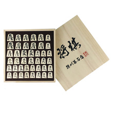 BSTFAMLY Wooden Japan Shogi 40 Pcs/Set International Checkers Folding PU Leather Chessboard Sho-gi Chess Game Table Toy Gift J04