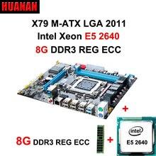 HUANAN X79 MOTHERBOARD-FREIES CPU RAM combos X79 LGA 2011 motherboard CPU Xeon E5 2640 RAM 8G DDR3 REG ECC unterstützung 2*8G am meisten