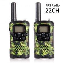 2 Pack JJ-220 FRS Tweeweg Radio Scanner 22CH 0.5 W Handheld Mini Kids Walkie Talkie Monitor Backlight lcd-scherm VOX Camouflage