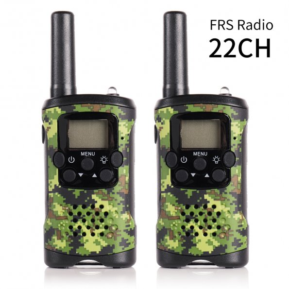 2 Pack JJ-220 Two Way Radio FRS Scanner 22CH PMR446 0.5W Handheld Walkie Talkie Monitor Backlight LCD screen VOX Camouflage
