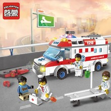 Enlighten City Educational Building Blocks Toys For Children Kids Gifts Cars Ambulance Compatible With Legoe