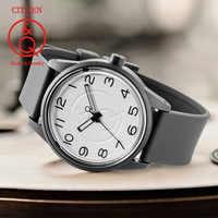 Citizen Q&Q watch men Set top Luxury Brand Waterproof Sport Quartz solar men Watch Neutral watch Relogio Masculino reloj 0J042Y