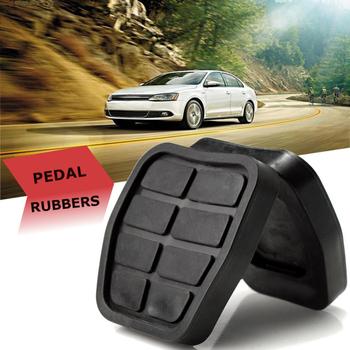 2 sztuk czarny gumy pedał 321721173 C44 sprzęgła klocki hamulcowe do VW Golf Jetta MK2 klocki hamulcowe samochodów Auto tanie i dobre opinie Mniej metalu 0 045 China Brake pedal Po lewej stronie
