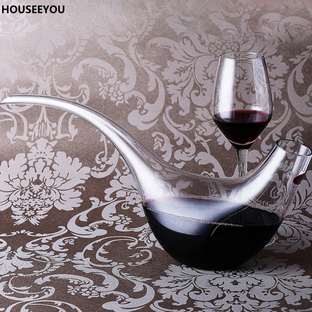 Ev ve Bahçe'ten Karaflar'de 1000 ml Kuş şeklinde cam şarap dekantörü Üst Sınıf Moda Bar Malzemeleri Şarap Havalandırıcı Şarap Konteyner Sürahi Ev Barware Araçları'da  Grup 1